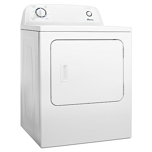 6.5 cu. ft. Front Load Electric Dryer with Automatic Dryness Control in White