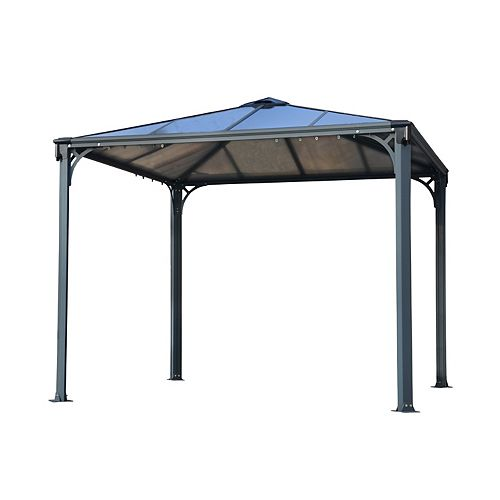 Palermo 10 ft. x 10 ft. Gazebo in Basalt-Grey