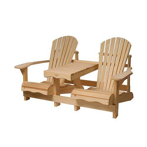 Gossip Bench in Pine Wood