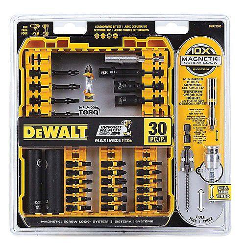 DEWALT Flex Torq 30-Piece Hex Shank Impact Driver Bit Set