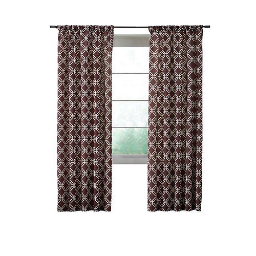 Home Decorators Collection Essex Curtain, Brown  -  52 pouces X 84 pouces (longueur)