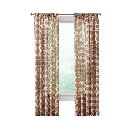 Essex Curtain, Ivory - 52 pouces X 84 pouces (longueur)