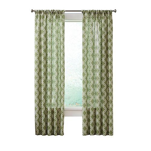 Essex Curtain, Green   -  52 pouces X 84 pouces (longueur)