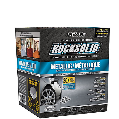 Metallic Floor Coating Kit in Extreme High Gloss Silver Bullet (covers up to 125 Sq. Ft.)