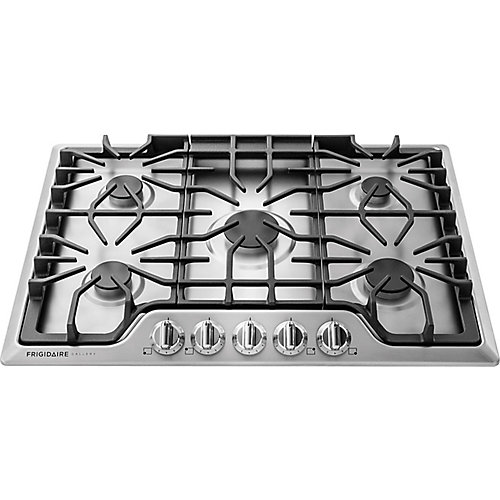 30-inch Gas Cooktop with 5 Sealed Burners in Stainless Steel