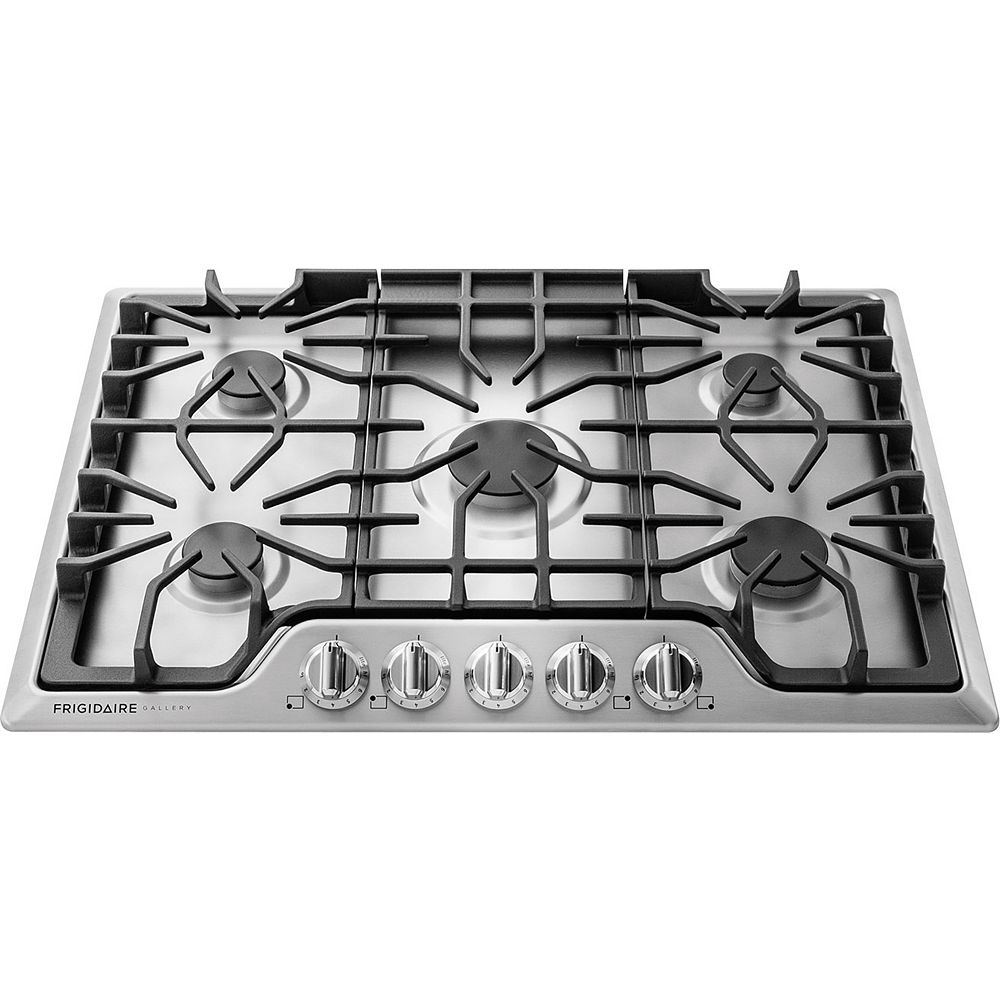 Frigidaire Gallery 30-inch Gas Cooktop with 5 Sealed Burners in Stainless Steel