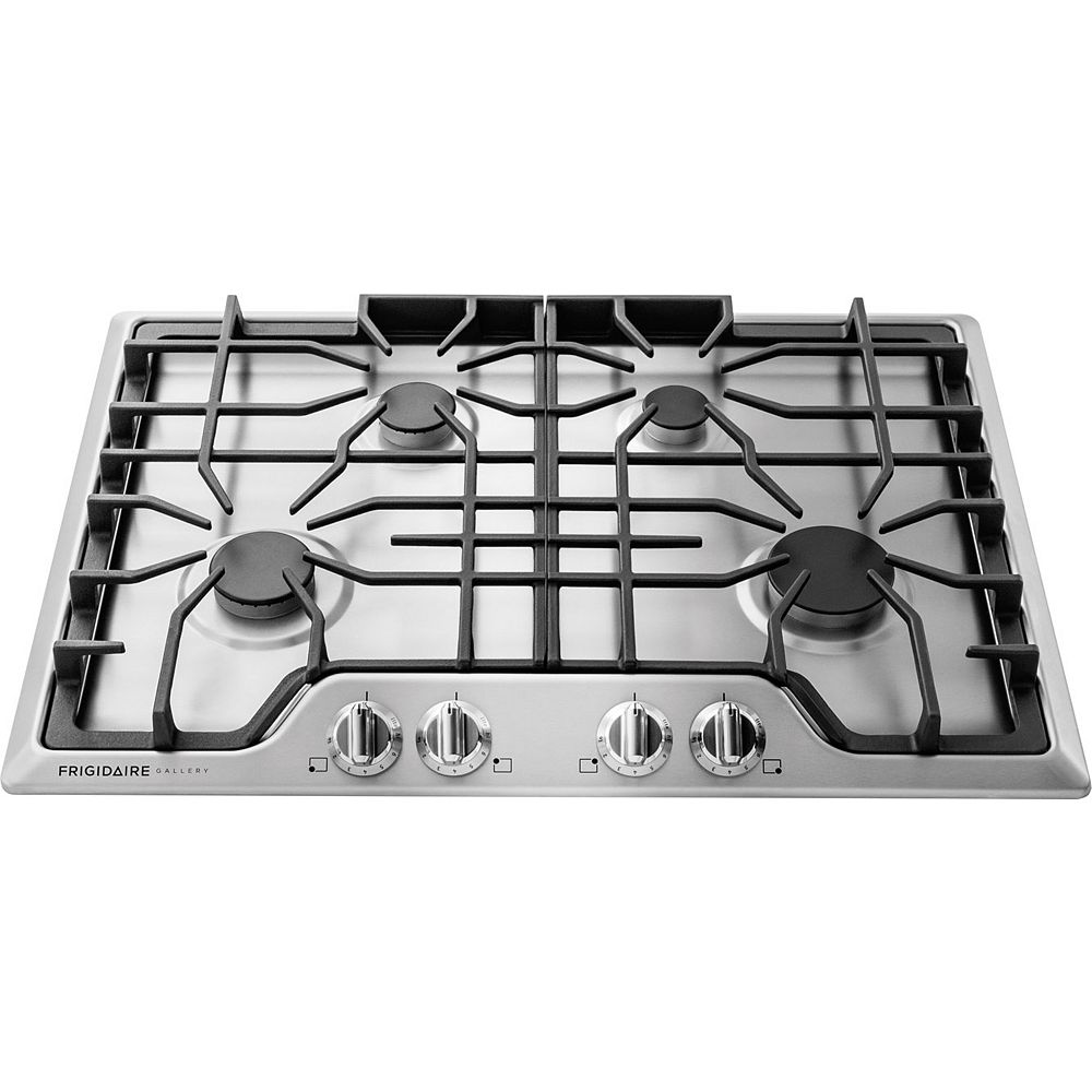 Frigidaire Gallery 30-inch Gas Cooktop in Stainless Steel with 4 Sealed Burners