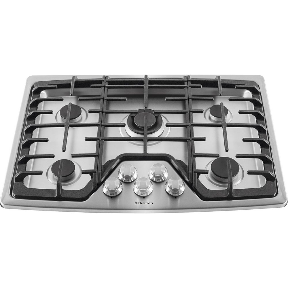 Electrolux 30-inch Gas Cooktop with 5-Burners in Stainless Steel