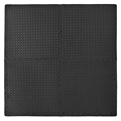 Anti-fatigue Utility Mat - Black (4-Pack with borders)