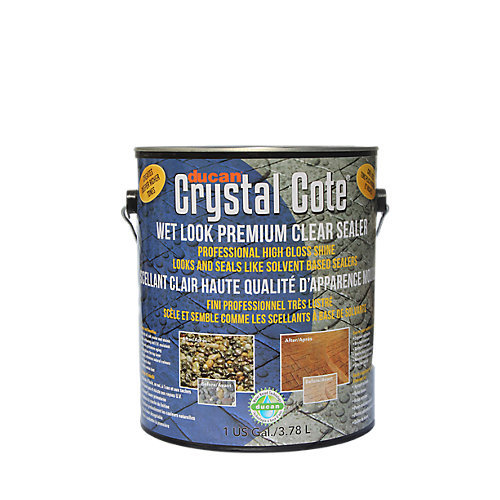 Premium Concrete Driveway & Patio Glaze is a superior water-based driveway and patio sealer with an extreme high gloss, wet look shine. Can be used indoors or outdoors.