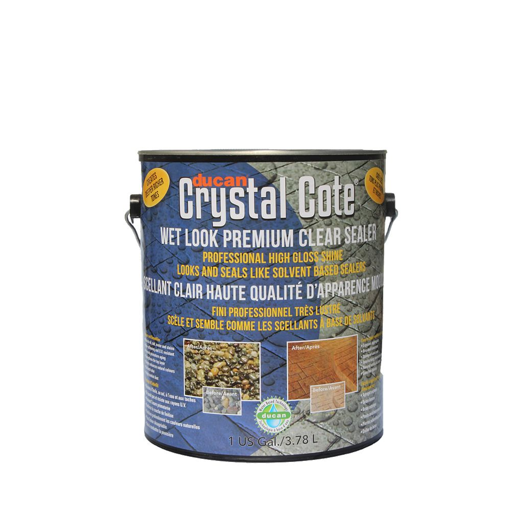 Ducan Premium Concrete Driveway & Patio Glaze is a superior water-based driveway and patio sealer with an extreme high gloss, wet look shine. Can be used indoors or outdoors.