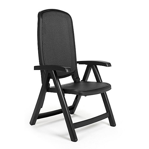 Charcoal Delta 5-Position Patio Folding Chair