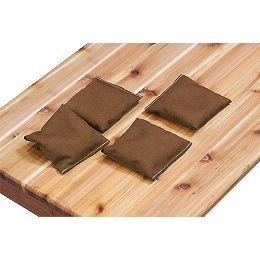 Ensemble de 4 poches, brun