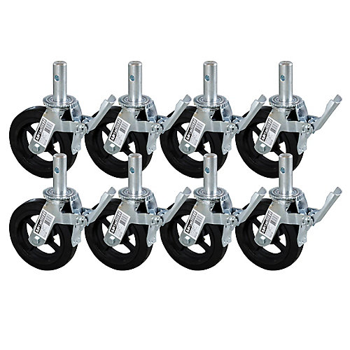 8-inch Scaffold Caster Wheel (8-Pack)