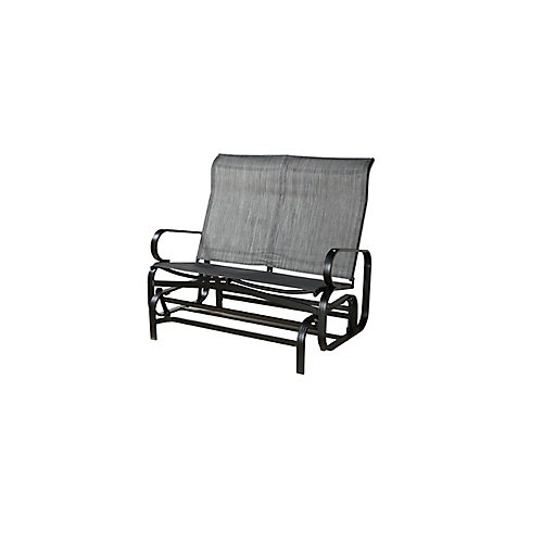 Bahia Patio Rocking Bench in Charcoal