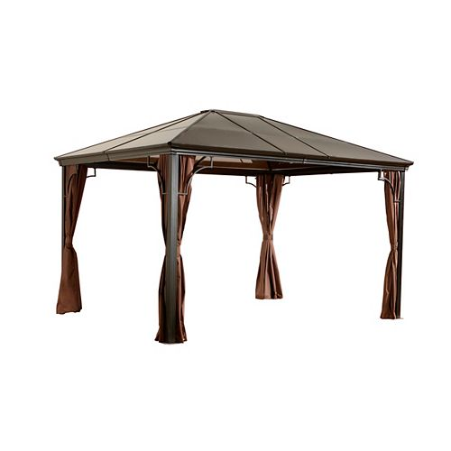 Sumatra 10 ft. x 10 ft. Sun Shelter in Dark Brown