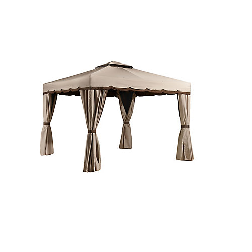 Romano 10 ft. x 12 ft. Sun Shelter in Beige and Brown