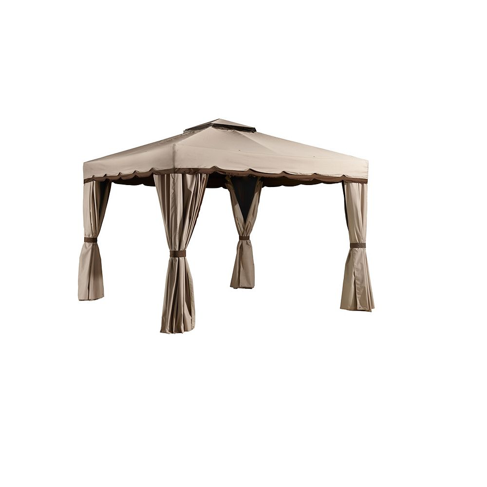 Sojag Romano 10 ft. x 12 ft. Sun Shelter in Beige and Brown