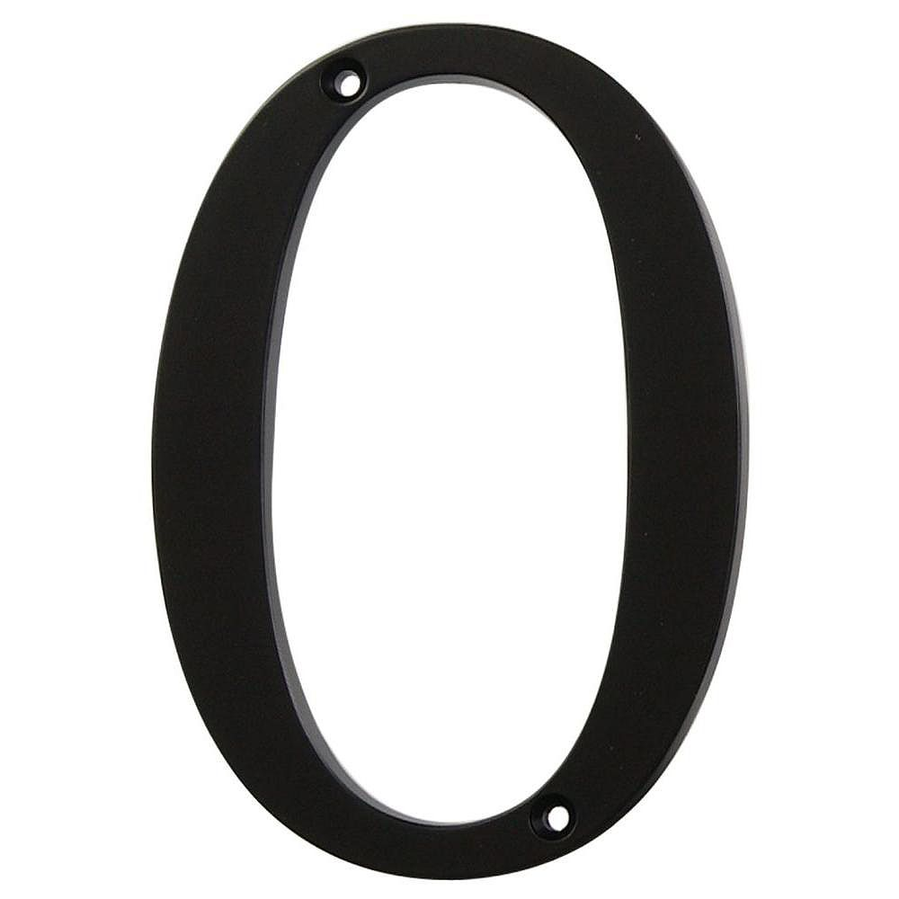 Hillman 4 Inch Black House Number 0