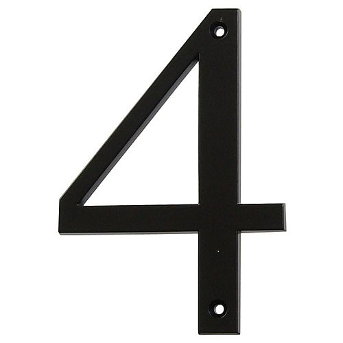 4 Inch Black House Number 4