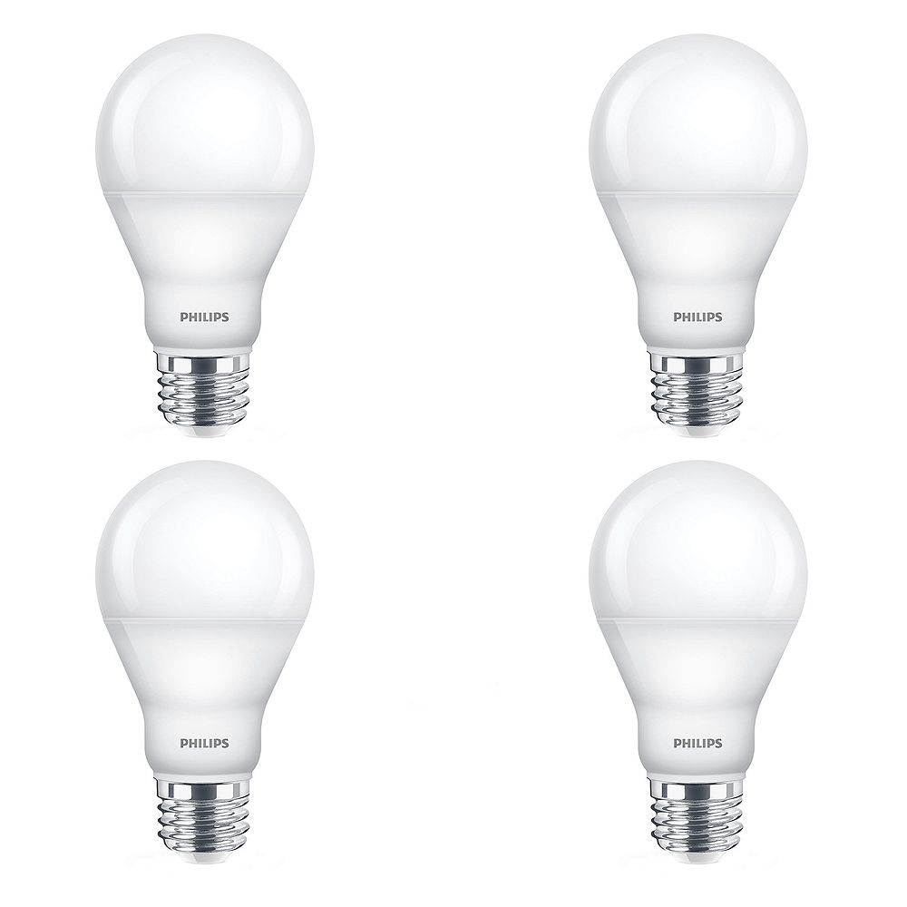 Philips 60W Equivalent Warm Glow (2700K- 2200K) A-Line (A19) LED Light Bulb (4-Pack)