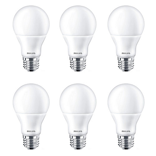 60W Equivalent Daylight (5000K) A-Line (A19) LED Light Bulb ENERGY STAR® (6-Pack)