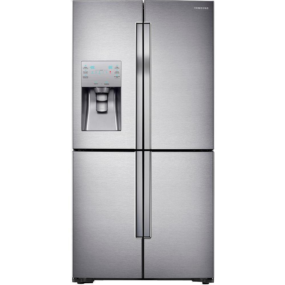 Samsung 36-inch W 22.5 cu. ft. French Door Refrigerator in Stainless Steel, Counter Depth - ENERGY STAR®