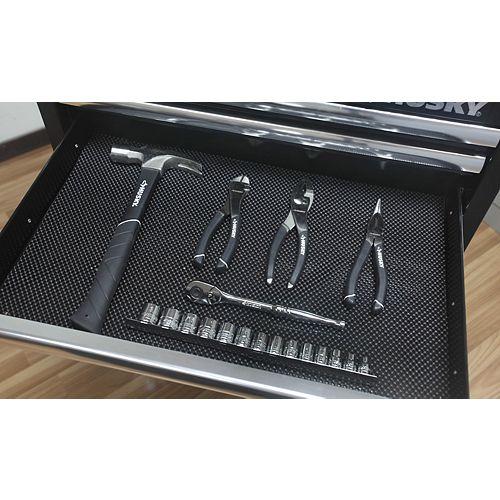 Doublure de tiroir noire de qualité supérieure 38,1cm x 355,6cm (15,2po x 140po)