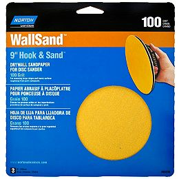 Disque abrasif 9'' WallSand grain 100 pour placoplâtre
