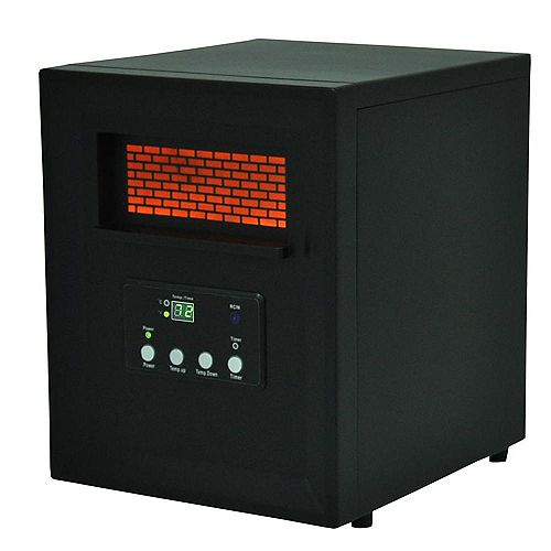 4 Element Medium Size Room Infrared Heater w/Remote