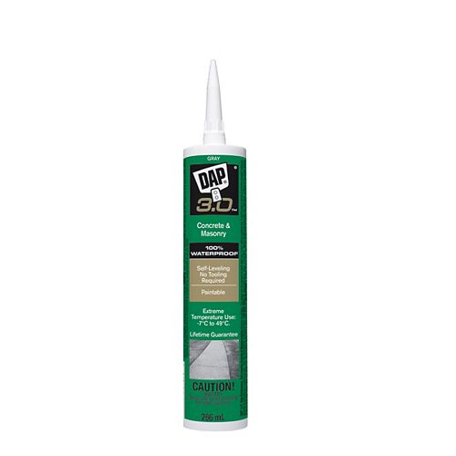 DAP 3.0 Advanced Self-Leveling Concrete Sealant Gray Stone 266 ml