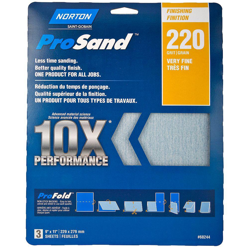 Norton Papier à ponçer ProSand 10X grain 220