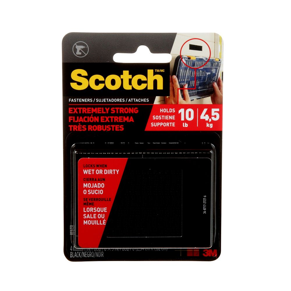 Scotch Extreme Fasteners, 1-inch x 3-inch