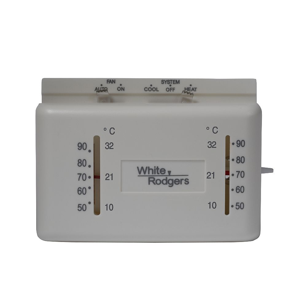 White-Rodgers WR Heat/Cool Mercury Free Non-Programmable Thermostat