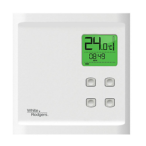 WR Heat Only Programmable Baseboard Dual Pole 240V/120V Thermostat - Back Light Display