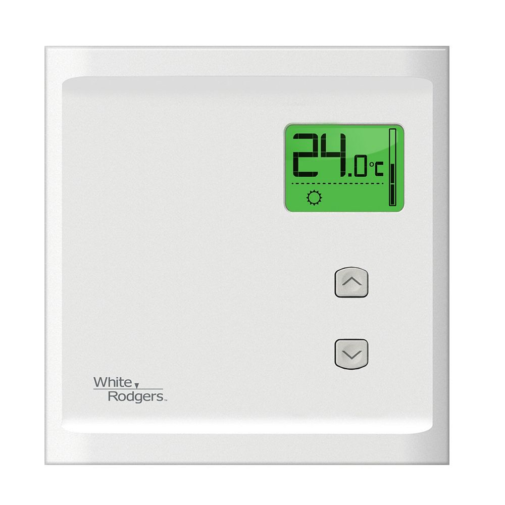 White-Rodgers Digital Non-Programmable Baseboard Thermostat -Single Pole Heat Only