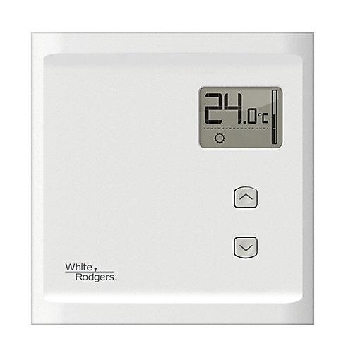Thermostat électronique chauffage seulement pour plinthe 120/240V