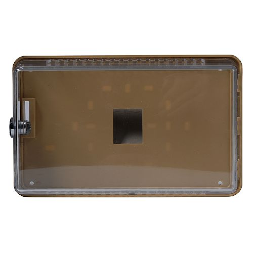 Small, Universal Thermostat Guard, Transparent Cover With Mounting Plate & Mounting Ring