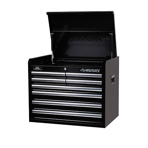 26-inch 8-Drawer Tool Storage Chest in Black