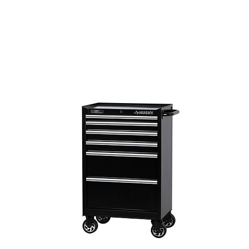 Husky 27-inch W 6-Drawer Mobile Tool Storage Cabinet in Black