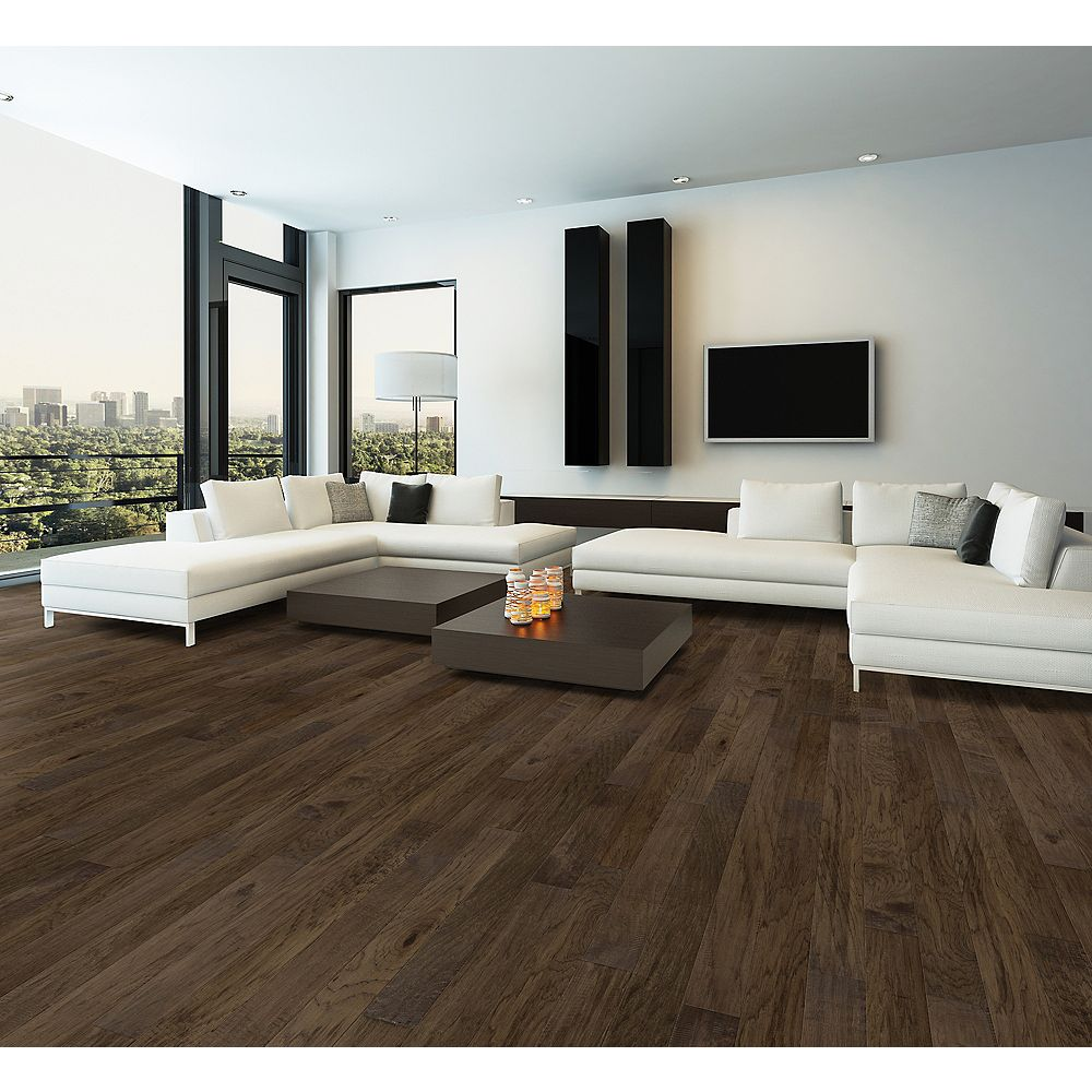 Smoked Hickory 32 32/32 inch W Click Engineered Hardwood Flooring 32.323 sq.  ft. / case