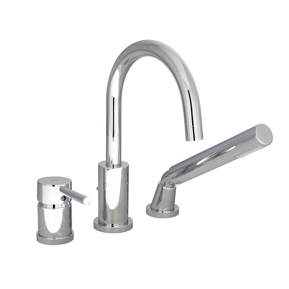 JALO Rondo 3-Piece Roman Bath Faucet in Chrome Finish