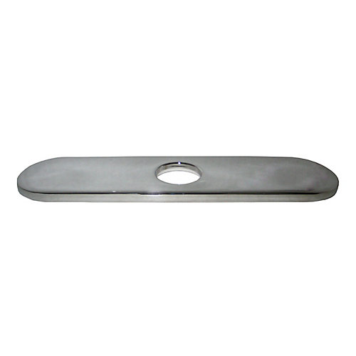 10 In. Decorative Hole Cover Faucet Plate - Chrome