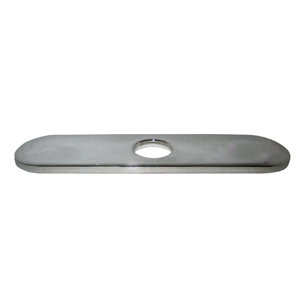JALO 10 In. Decorative Hole Cover Faucet Plate - Chrome