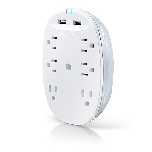 360 Electrical Studio4.8 Surge Protector & 4.8A USB