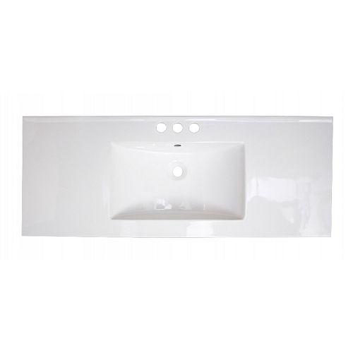 48.7 inch W Rectangular Ceramic Top