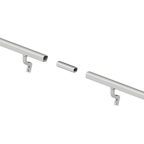 Kit de rampe aluminium de 8 pi. - aluminium brossé