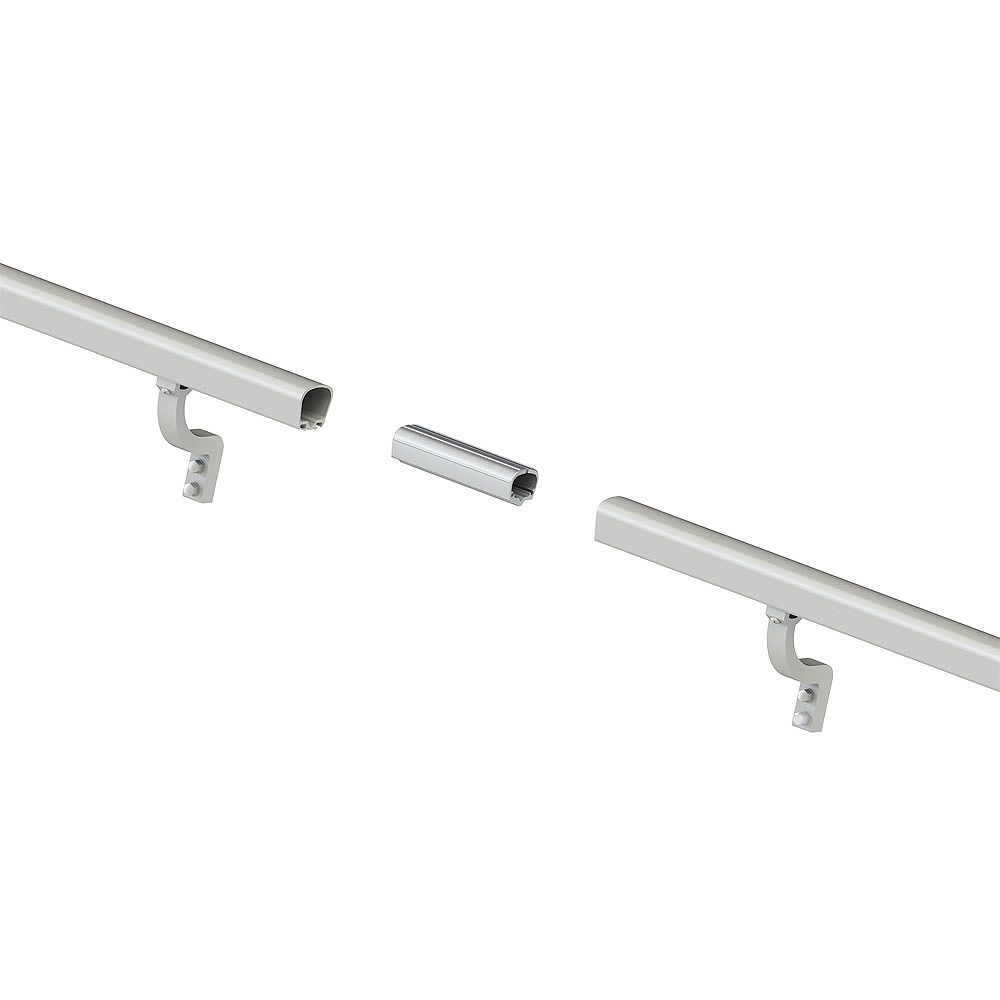 Peak Products 8 ft. Aluminum Handrail Kit - Brushed Silver