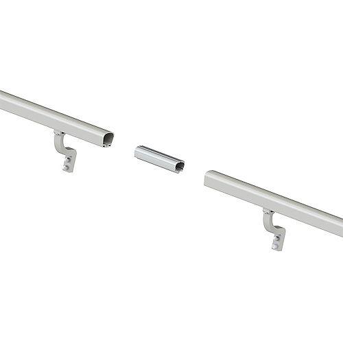 Peak Products 8 ft. Aluminum Handrail Kit - Brushed Silver