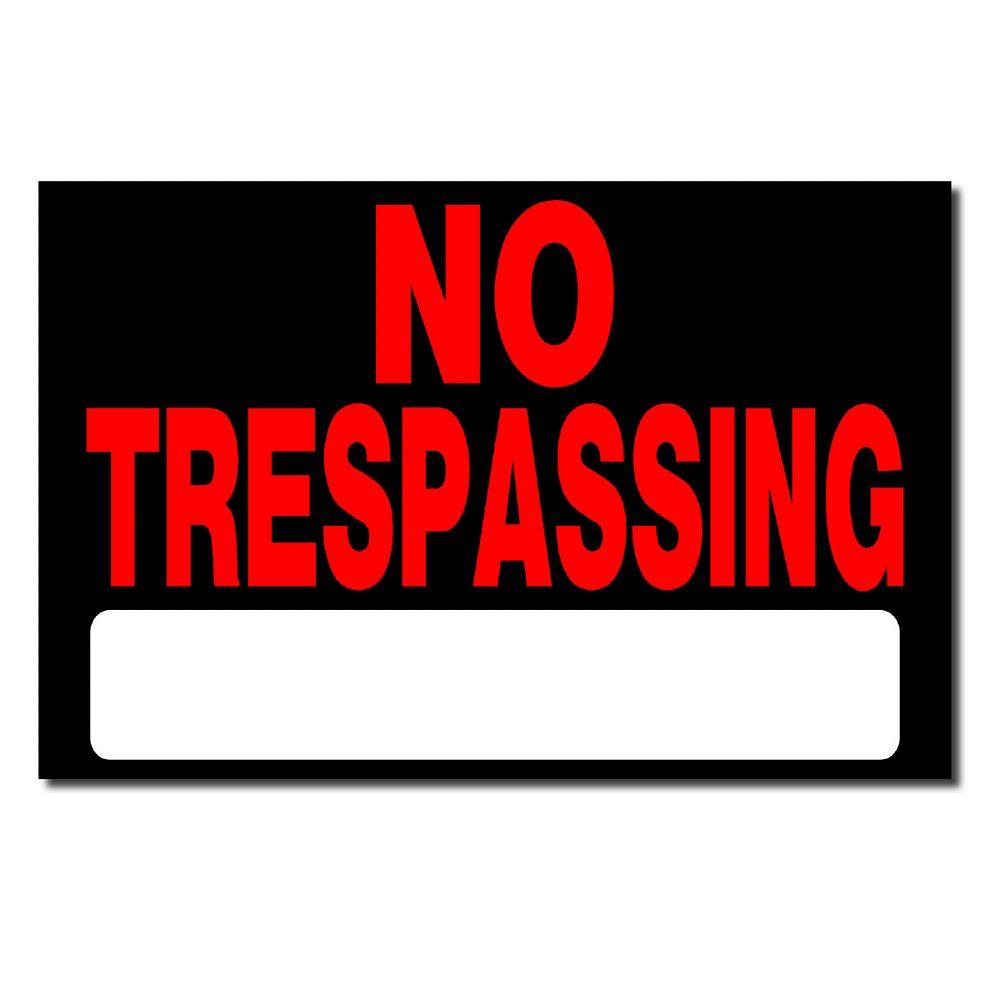 Hillman 8x12 No Trespassing